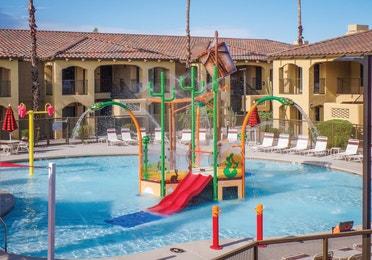 Kids play area, pool and splash pad at Scottsdale Resort in Arizona