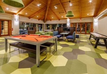 Pool table in a large entertainment room at Scottsdale Resort in Arizona
