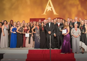 HCV Employees on stage at the 2019 ARDA gala