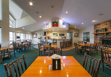 Dining area and bar at the Holiday Hills Resort in Branson Missouri.