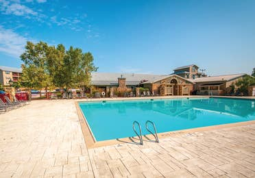 Outdoor pool at Apple Mountain Resort
