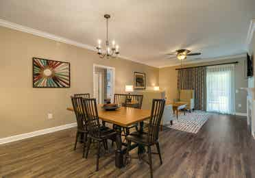 Dining room in a three-bedroom villa at Williamsburg Resort