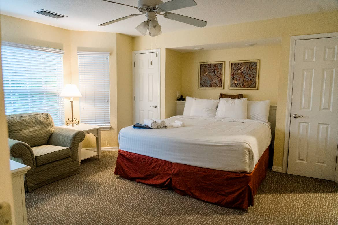 The master bedroom of our Presidential villa at our Villages resort in Flint, Texas.