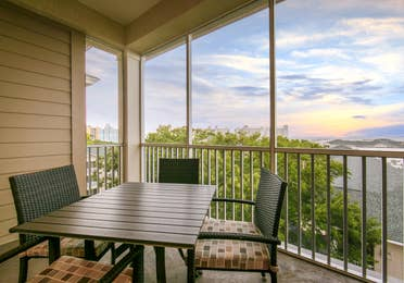 Balcony in a three-bedroom Signature Collection villa at South Beach Resort