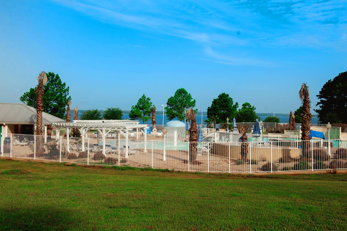 Our Beach Club pool near Lake Palestine at our Villages resort located in Flint, Texas.