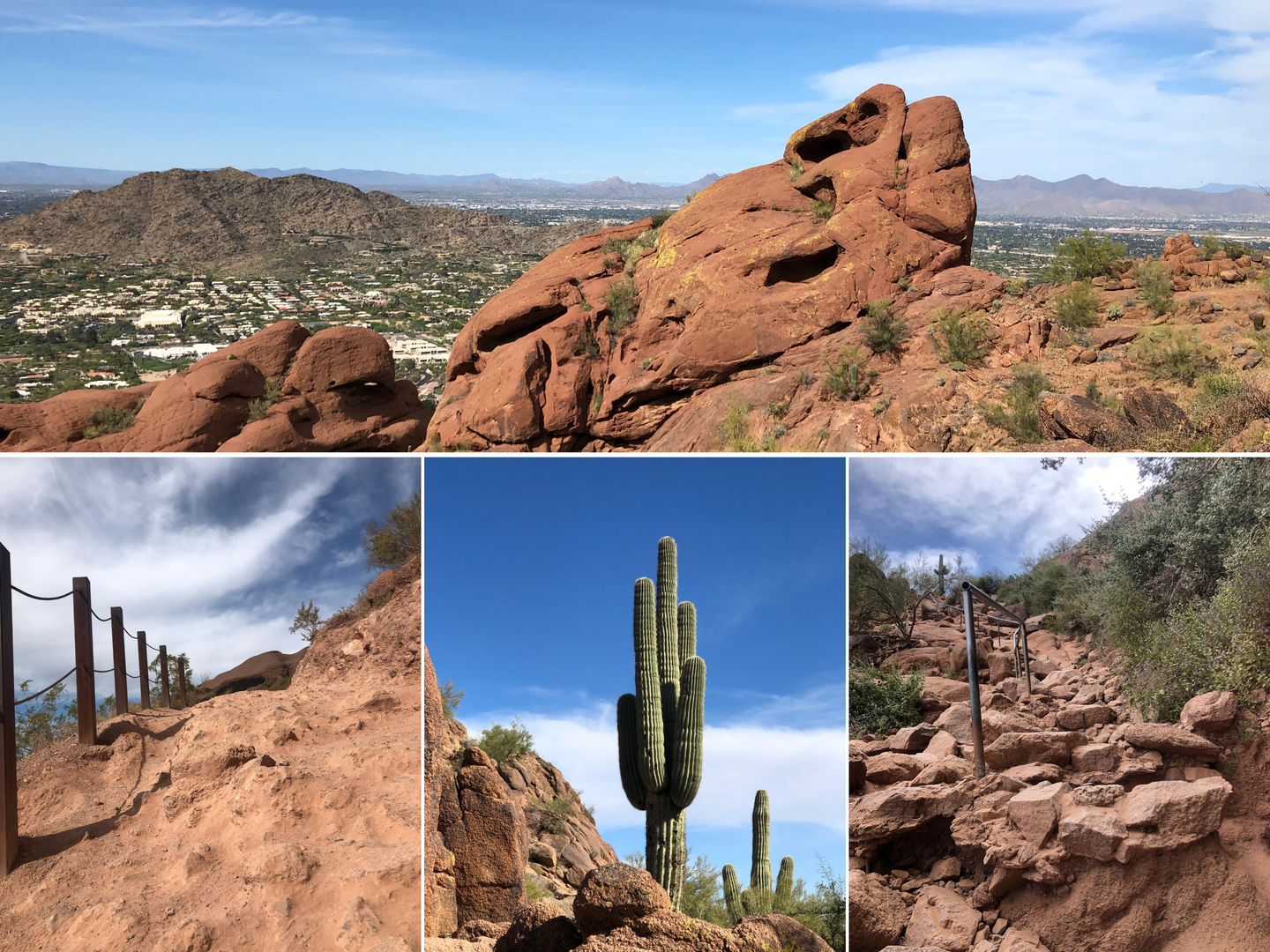 Collage of Camelback Mountain