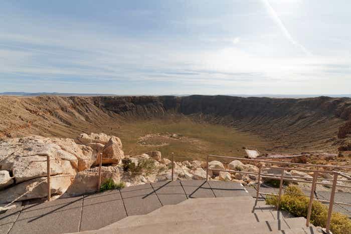Meteor Crater National Park in Arizona