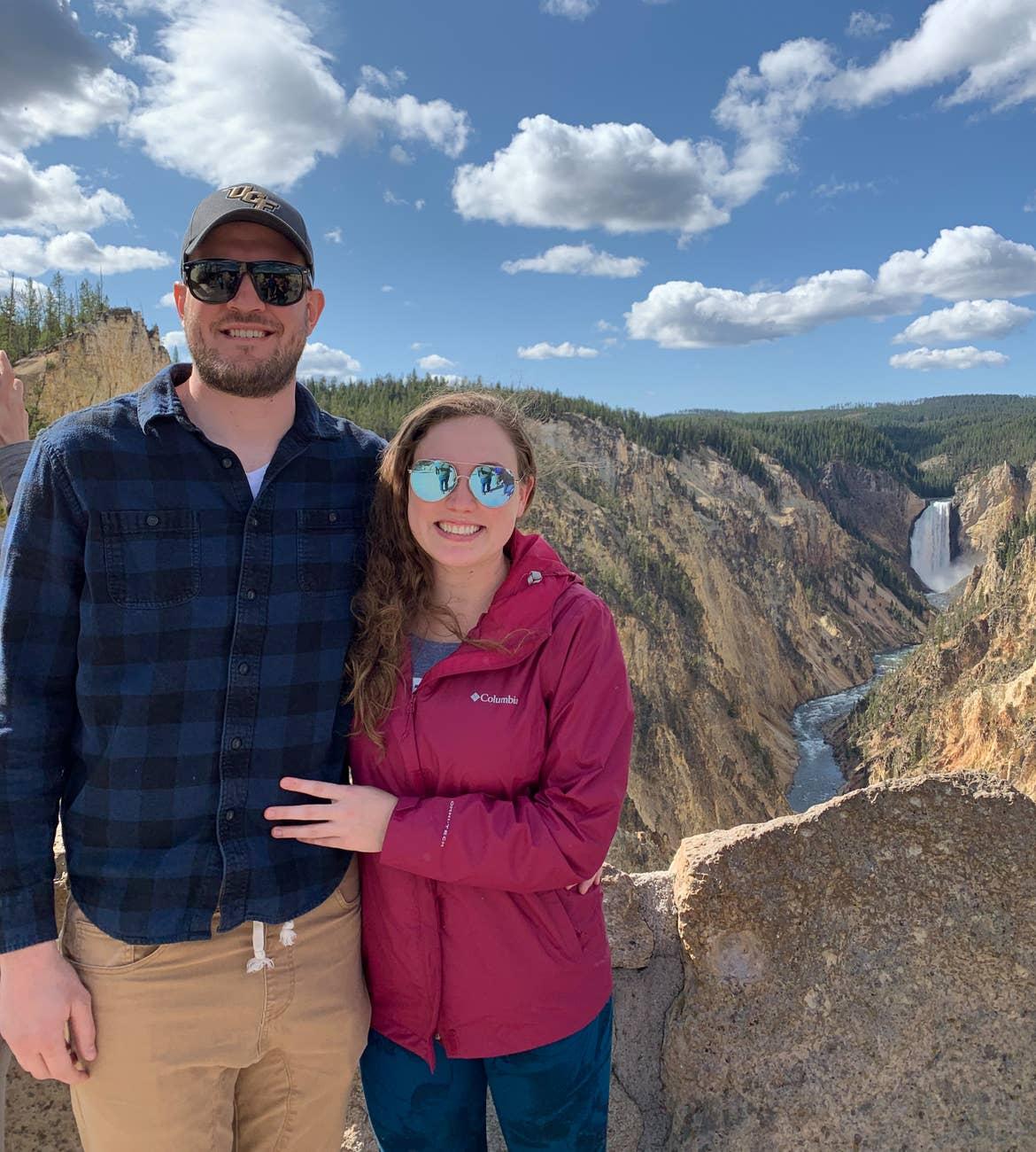 Ashley and her boyfriend at Yellowstone