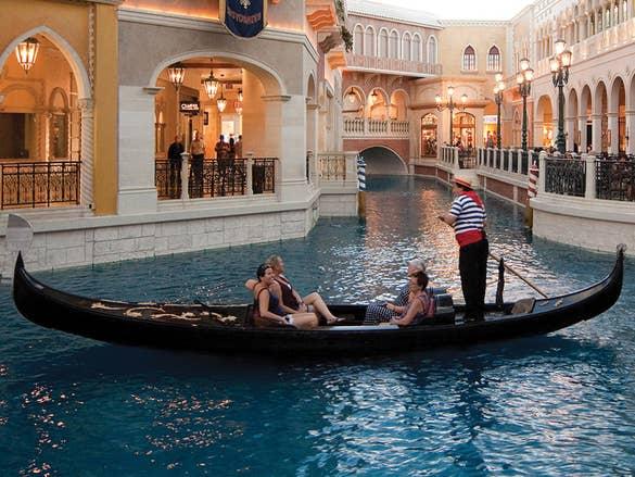 gondola ride at Venetian Hotel