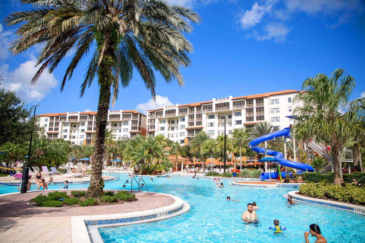 Exterior shot from our pool of our Orange Lake resort located near Orlando, FL.