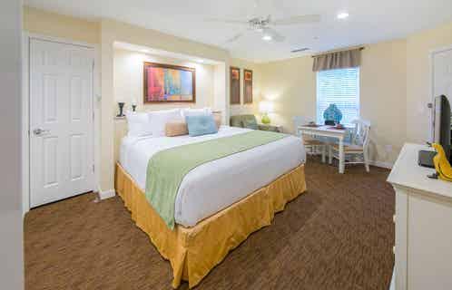 Bedroom in a three-bedroom villa at Villages Resort
