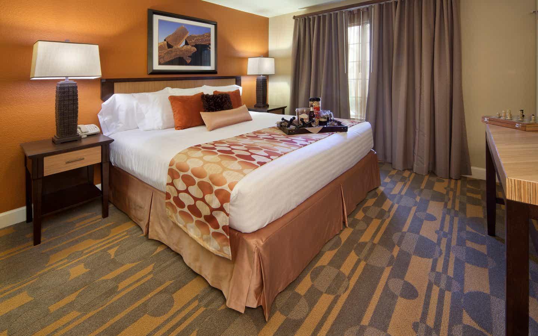 Bedroom in a two-bedroom villa at Desert Club Resort