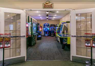 Arcade at Fox River Resort in Sheridan, Illinois.