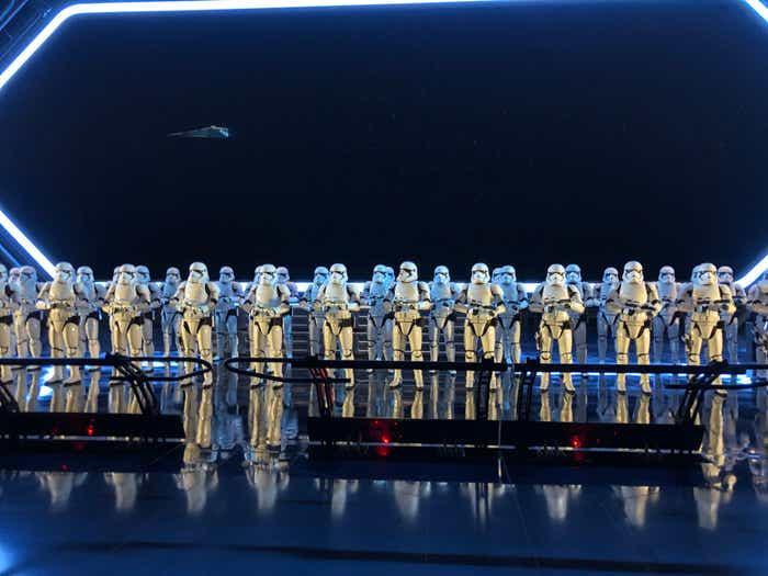 Stormtroopers on Rise of the Resistance