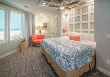 Bedroom in a two-bedroom Signature Collection villa at Galveston Seaside Resort