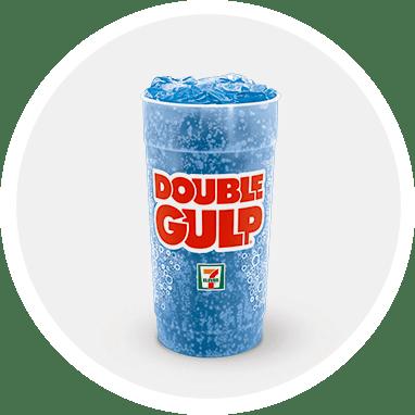 Blue 64-ounce Double Gulp® drink