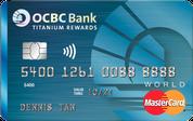 OCBC Titanium Rewards Credit Card - Blue Card Face