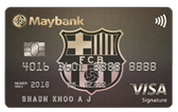 Maybank FC Barcelona Visa Signature Card