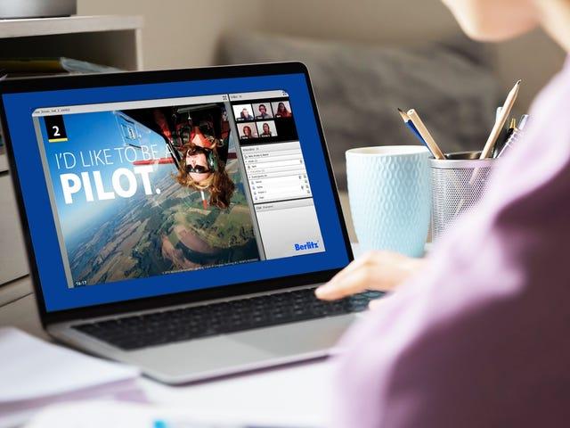 Woman attending an online intercultural training