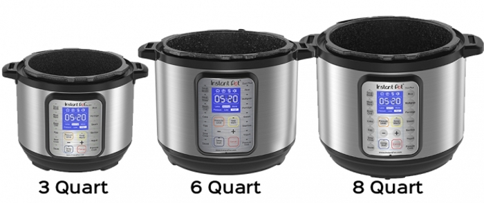 Different Sizes of Instant Pots