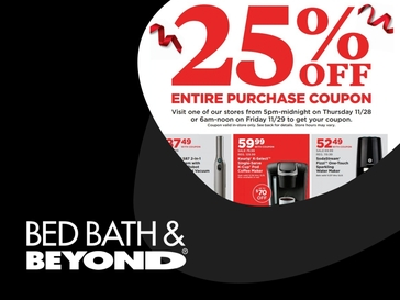 Bed Bath & Beyond Black Friday Deals