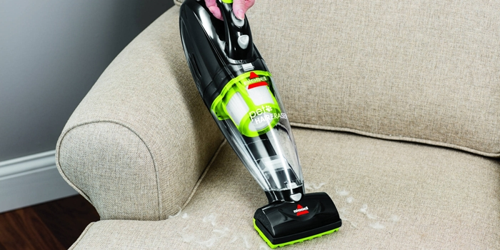 Bissell Pet Hair Eraser on Couch
