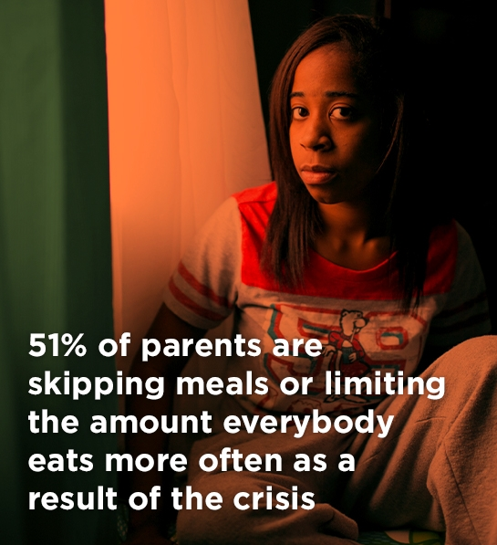 51% of parents are skipping meals