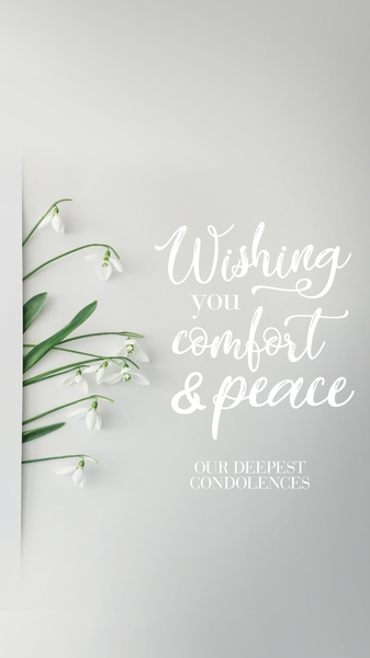 Comfort and Peace