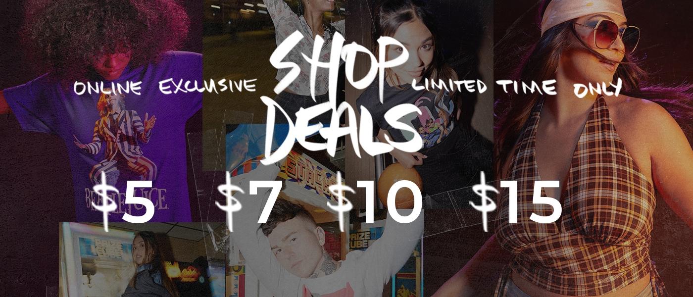 Deals at $5 $7 $10 $15