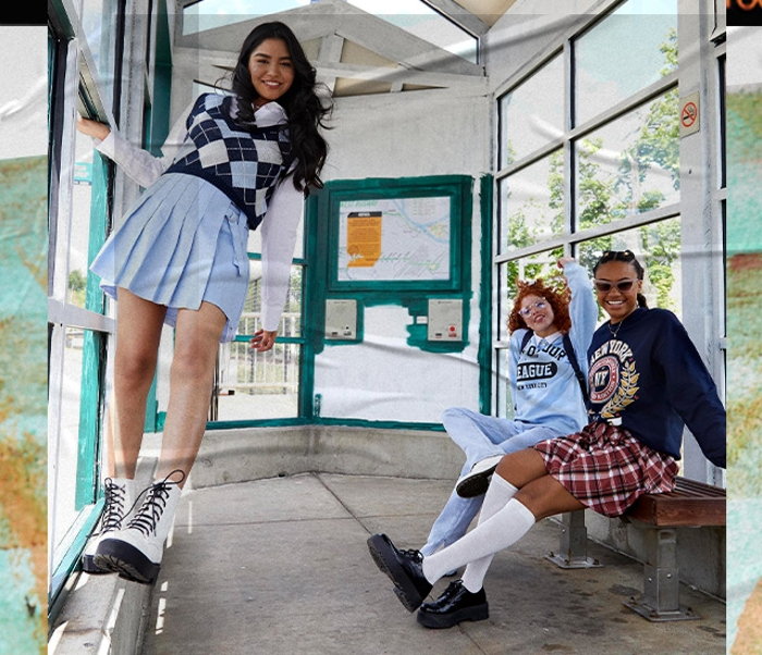 Cheer for your team in our Varsity Collection