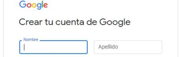 Crear cuenta de correo electrónico - Gmail (segundo paso)