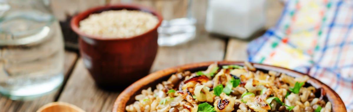 Comer combinaciones de nutricion ganadoras - lentejas y aroz