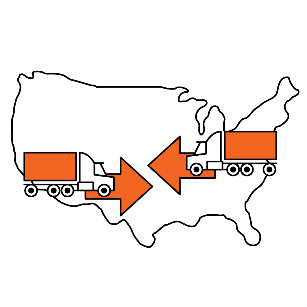 Using multiple ports to move product inland