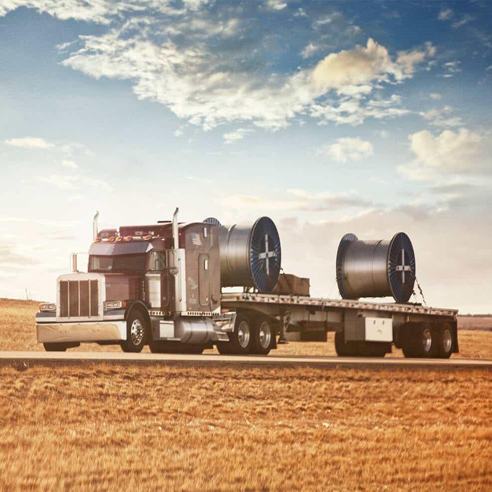 schneider flatbed truck image