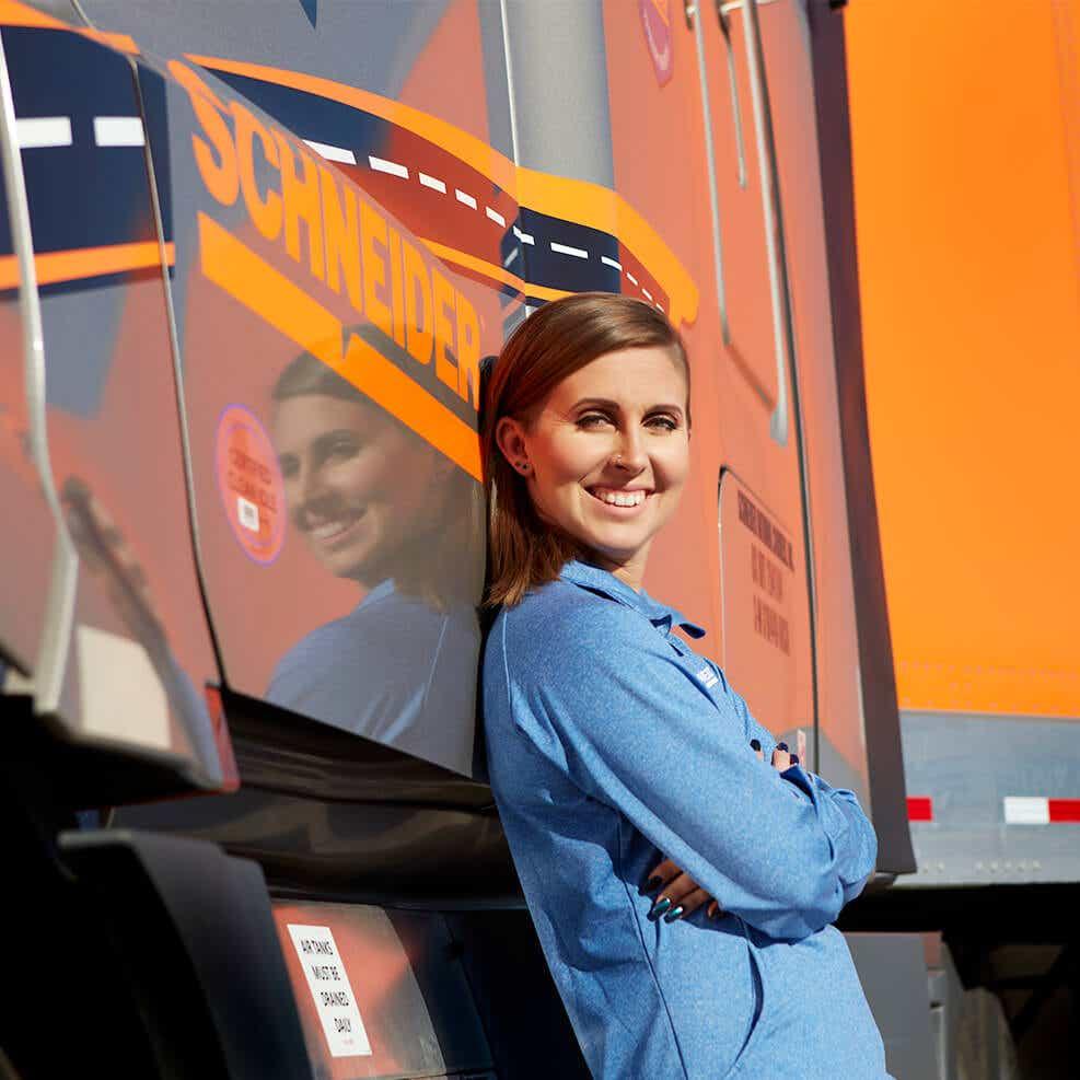 Become a Schneider truck driver image