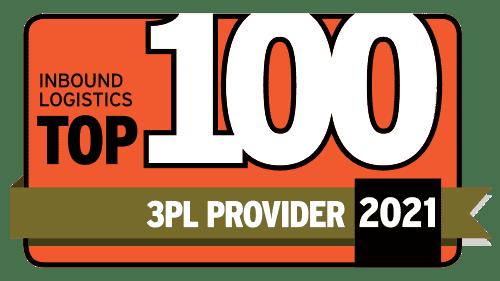 inbound logistics top 100 3PL 2021 badge