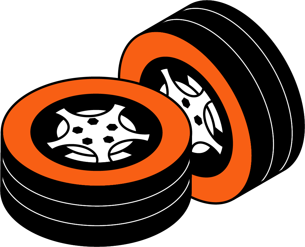 two tires automotive supply chain solutions icon