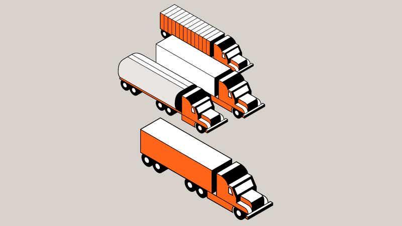 Orange trucks image