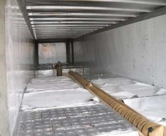 All pallets loaded crossways