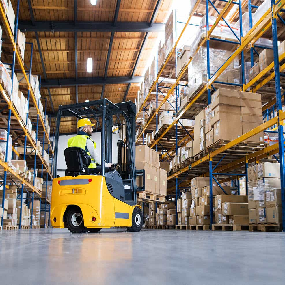 forklift driver providing warehousing service