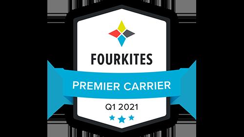 2021 FourKites Premier Carrier award logo