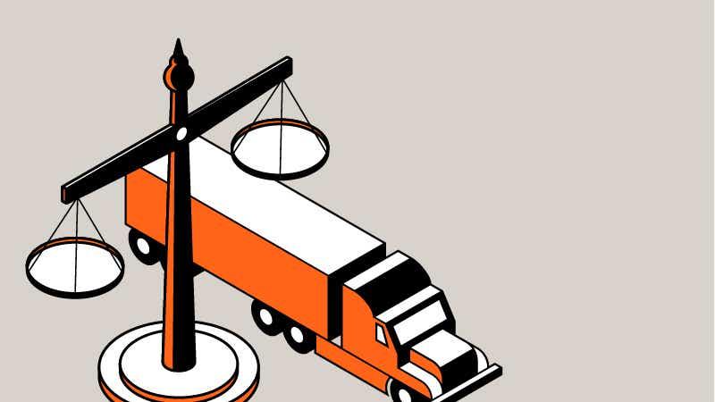 trucking regulation illustration image