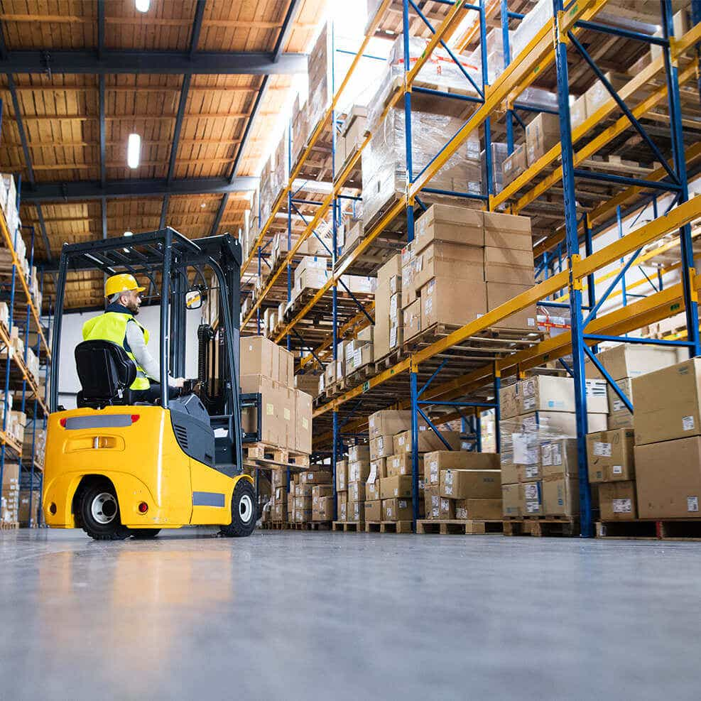 warehousing image with forklift
