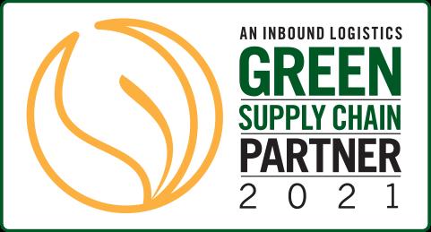 2021 Inbound Logistics' Green Supply Chain Partner award logo