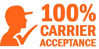 100% Carrier Acceptance