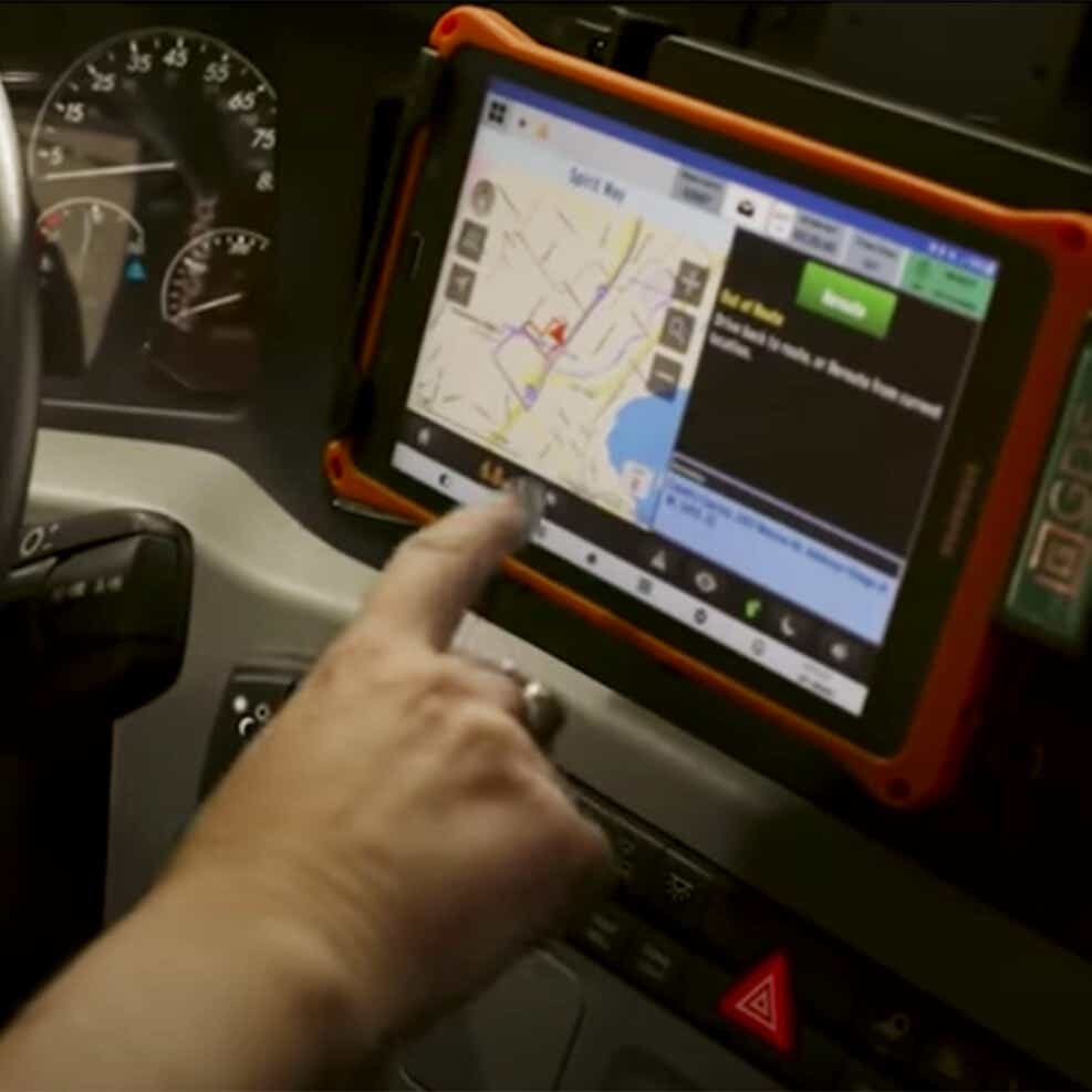 safety technology on Schneider driver tablets