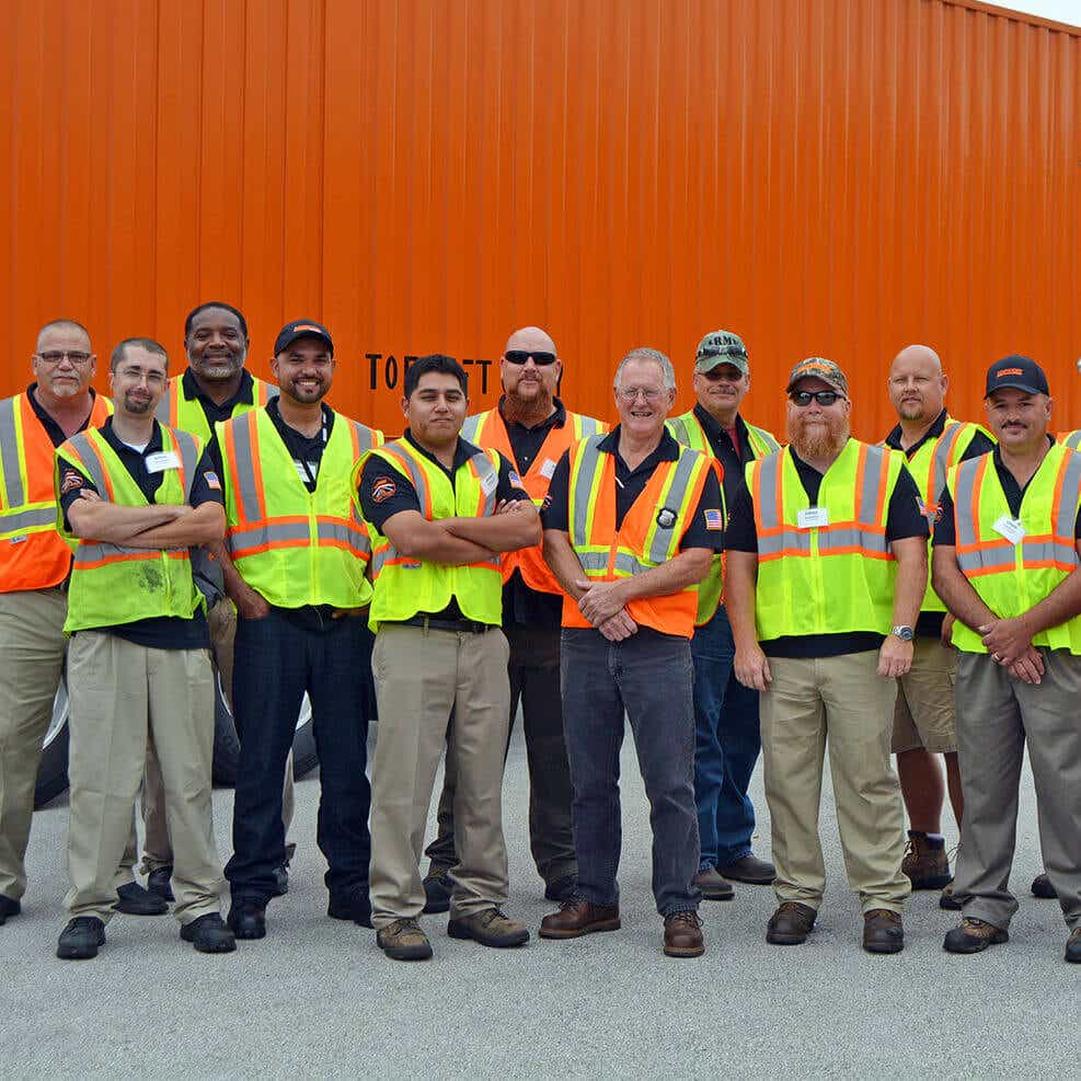 group photo of Schneider drivers