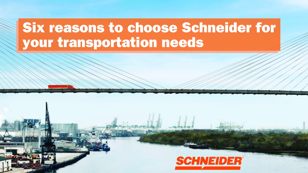 six reasons to choose Schneider for shipping video image