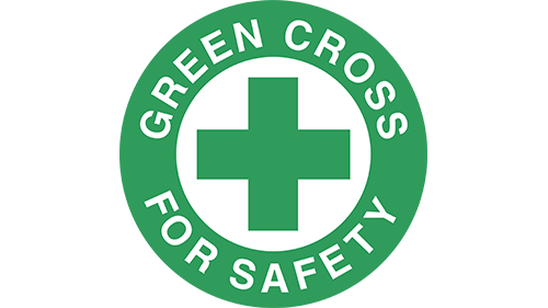 green cross transportation safety icon