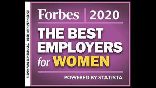 Forbes Best Employers for Women, 2020 logo